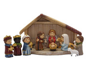 Nativity Set with Stable 11 pieces 7.5cm (NS10133)