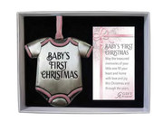 Christmas Ornament, Baby's 1st Christmas Pink(CO894P)