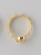 Rosary Finger Ring with Miraculous Image: 17mm (RRM17G)