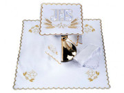 Embroidered Altar Linen Set: GOLD (LINEN19)