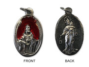 Silver Alumnium Medal: Scapular with red enamel (ME1216)