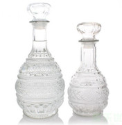 Cruet Set of 2, Round cut glass 1000ml (CWCR2)