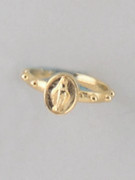 Rosary Finger Ring with Miraculous Image: 19mm (RRM19G)