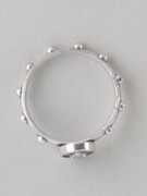 Rosary Finger Ring with Miraculous Image: 21mm (RRM21S)