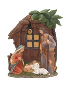 All-In-One Resin Nativity Scene 14x18cm (NS10138)