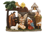 All-In-One Resin Nativity Scene 14x18cm (NS10139)