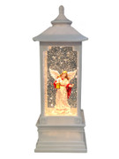 LED Angel Snow Lantern in white (NS10182)