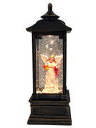 LED Angel Snow Lantern in brown (NS10190)
