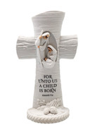 White Nativity Scene Cross 17cm(NS10189)