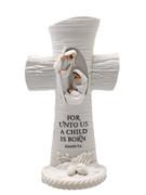 White Nativity Scene Cross 17cm(NS10189)