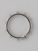 Rosary Finger Ring with Cross: 21mm (RR15S)
