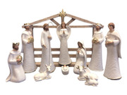 Nativity Set WHITE 11 pieces 27cm (NS10202)