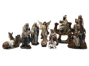 Nativity Set 11 pieces with Camels 20cm (NS10149)