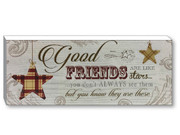 Wood Plaques: Good Friends (PL416GF)