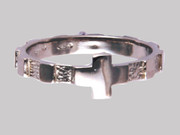 Rosary  Finger Ring: Sterling Silver: 21mm (RRS40921)