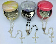 Tiny Rosary: 4mm Bead Assorted Colours (RXB4)