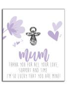 Lapel Pin Guardian Angel Mum (LP40108)