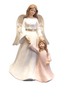 Resin Angel 18cm:  Guardian Angel with Girl(ST6201)
