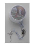 Glass Rosary & Box: Lourdes (RX36908)