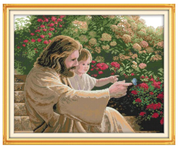 Cross Stitch Kit: Jesus and Child (KXR314)
