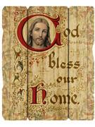 Vintage Frame: Bless Home Jesus (PL200HB)