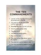 Laminated Holy Cards (each): Ten Commandments(LC7157)