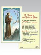 Holy Card (each): 800 SERIES - St Francis/Peace prayer (HC8040e)