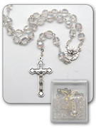 Confirmation Rosary: Clear Bead Gift Boxed (RX326FC)