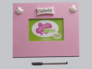 Signature Photo frame: Christening Pink