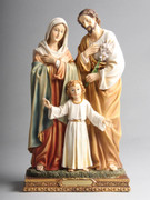 HOLY FAMILY RESIN STATUE 30CM