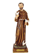 St Francis RESIN STATUE 30cm