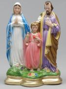Plaster Statue Holy Family 30cm