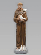 Plaster Statue: ST FRANCIS ASSISI 30cm