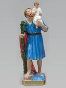 Plaster Statue: St Christopher 30cm