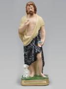 Plaster Statue St John Baptist 30cm
