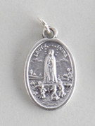 Silver Oxide Medal: Our Lady of Fatima (ME02209)