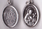 Silver Oxide Medal: St Francis (ME02212)