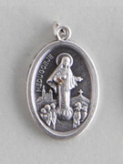 Silver Oxide Medal: Our Lady of Medjugorje (ME02249)