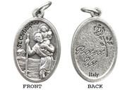 Silver Oxide Medal: St Christopher (ME02255)