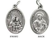 Silver Oxide Medal: Scapular (ME02256)