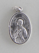Silver Oxide Medal: St Augustine/St Monica (ME022D36)