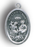 Silver Oxide Medal- Holy Trinity (ME022HT)