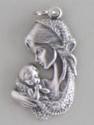 Silver Oxide Shaped Medal: Mother & Child (MEMB32)