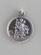Silver Oxide Medal Round:  St Christophert 18mm (MET1855)