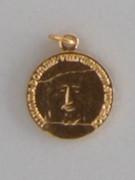 Gilt Aluminium Medal: Holy Face Turin Shroud (ME46AA)