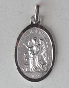 Sterling Silver (925) Medal, Guardian Angel (ME9710)
