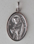 Sterling Silver Medal: St Francis (ME9712)