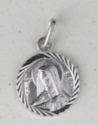 Sterling Silver Round Medal: St Rita (ME1024)