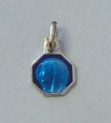 Sterling Silver/Blue Enamel Watch Medal: Lourdes (ME32608)