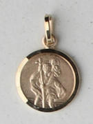 9kt Gold Pendants: St Christopher 13mm (ME910)